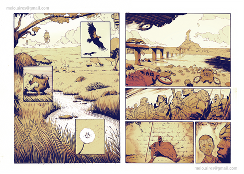 Apocryphus Pages 1 and 2 Art by Aires Melo