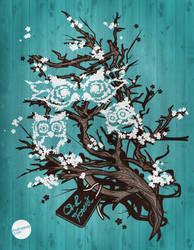 Owl Tree Vector Illustration by IYU-IYU