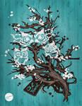 Owl Tree Vector Illustration