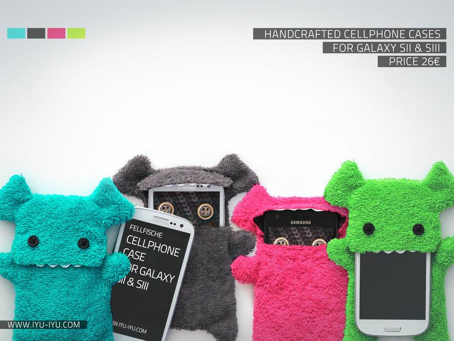 Fellfische Cases For Samsung Galaxy S2 + S3 by IYU-IYU