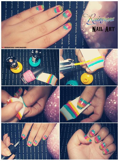 Rainbow Nail Art Tutorial by friabrisa