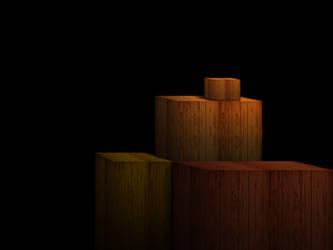 Wooden Containers Digital Painting by praveengurukulam