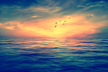 Sun Set Background by praveengurukulam