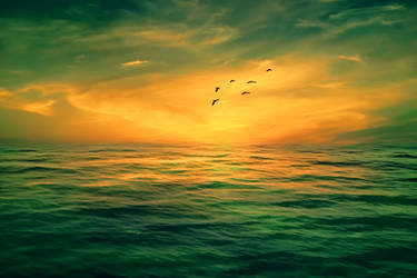 Sun Set Background 2 by praveengurukulam