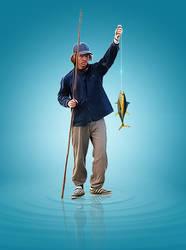 Fisher Man  by praveengurukulam
