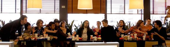 Last Supper in McDonalds. by OkayOkay