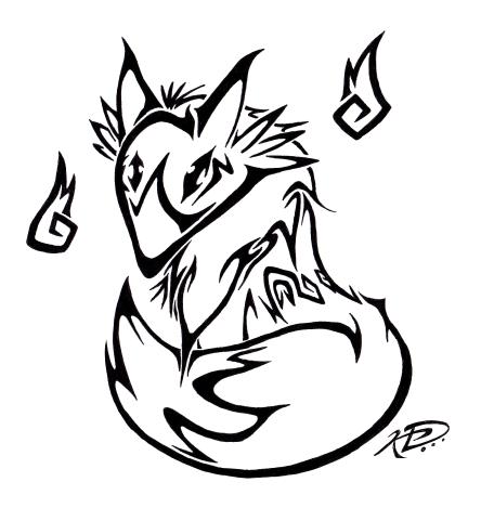 simple tribal fox tatt...
