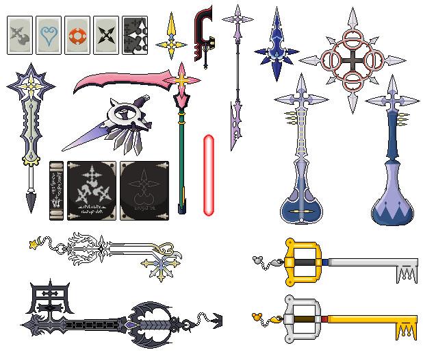 Icones Kingdom Hearts 358/2 days Organisation_xiii_weapon_pixel_by_haulau-d3lgn5u