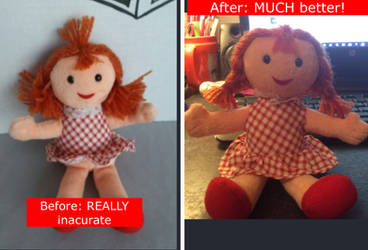 RudolphThe Red Nosed Reindeer Dolly improved! by PrincessPeachFan100