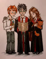 The Golden Trio Request  by BoomBoxWizard14