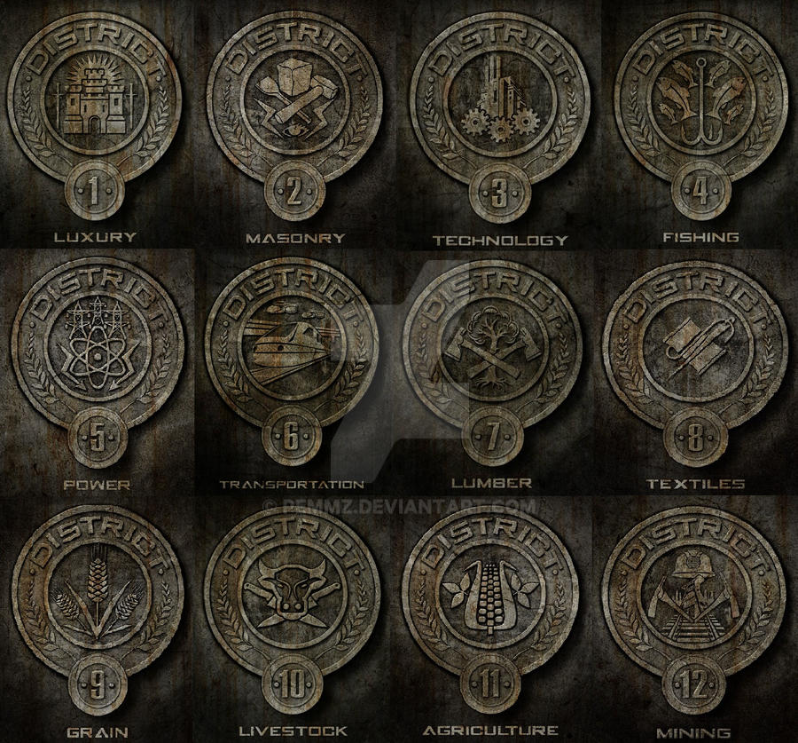 Districts Of The Hunger Games By Pemmz On Deviantart