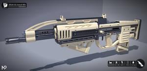 [SketchUp] SPEAR-XE1 Assault Rifle