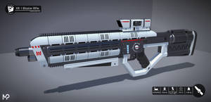 [SketchUp] AURARMS XR-1 Blaster Rifle by MikePrivius