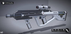 [SketchUp] AURARMS R2 Blaster Rifle by MikePrivius