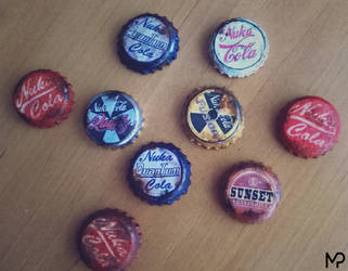 Fallout Bottle Caps by MikePrivius