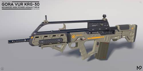 [SketchUp] Gora Vur KRG-30 Assault Rifle
