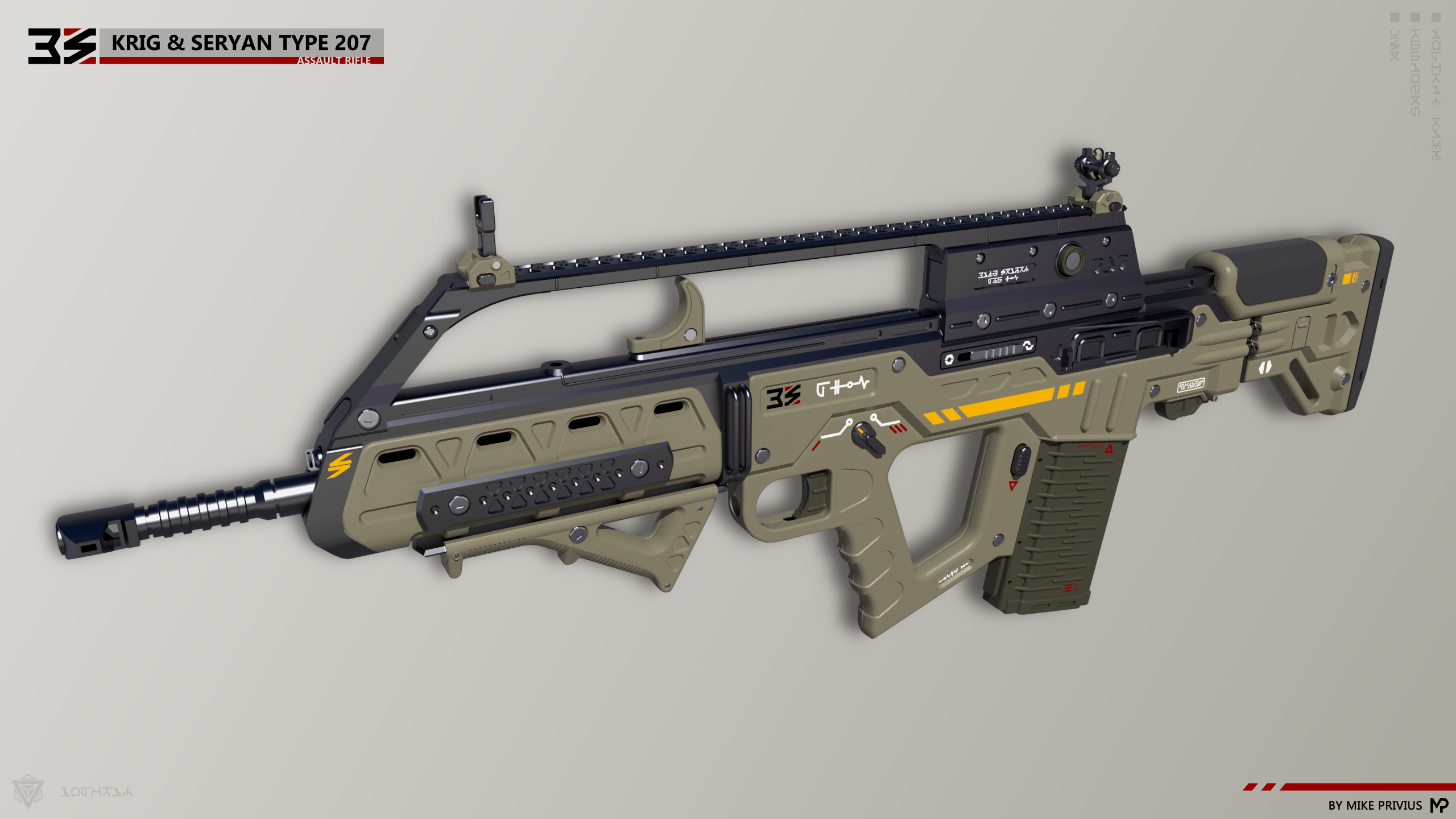 [SketchUp] Krig and Seryan Type 207 Assault Rifle