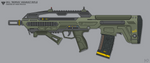 [Inkscape] Kaneesian 2K1 'Remus' Assault Rifle by MikePrivius