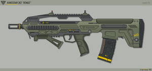 [Inkscape] Kaneesian 3K2 'Remus' Assault Rifle