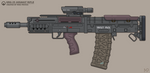 [Inkscape] Gora Vur KRG-25 Assault Rifle by MikePrivius