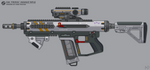 [Inkscape] Staris C6A 'Frixus' Assault Rifle by MikePrivius