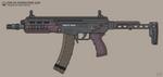 [Inkscape] Gora Vur KRB-28 Submachine Gun by MikePrivius