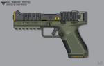 [Inkscape] Kaneesian 5K4 'Pardis' Pistol by MikePrivius
