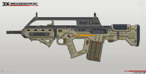 [Inkscape] Krig and Seryan Type 207 Assault Rifle