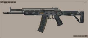 [Inkscape] Gora Vur KRG-56 Assault Rifle
