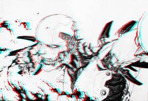 REDHAWK99: Bloodrain 3D by CameronArt