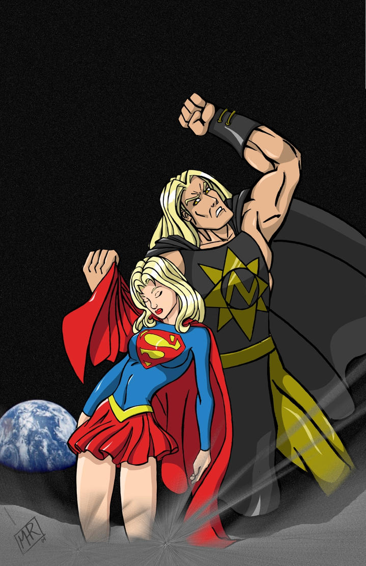 Supergirl vs. nuclearman by mhunt