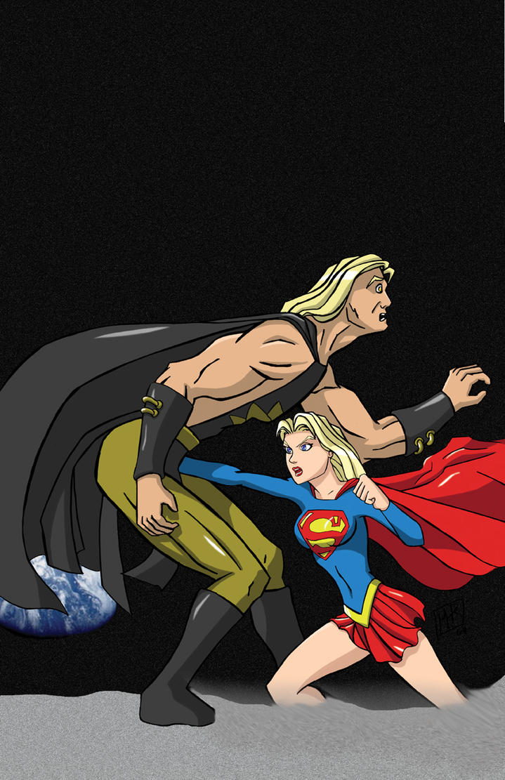 Supergirl vs Nuclearman3 - Com by mhunt