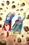 Supergirl Batgirl commisison