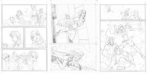 Ame Comi Supergirl base pencils sample pages