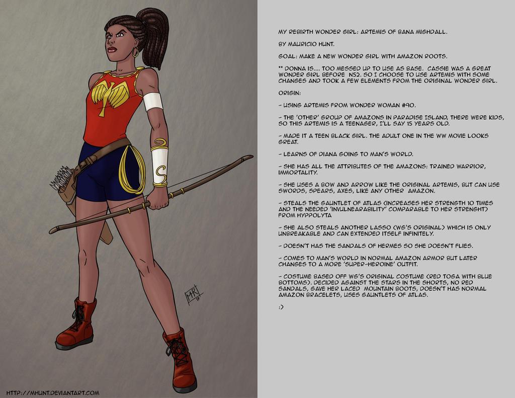 My Rebirth version of Wonder Girl. by mhunt