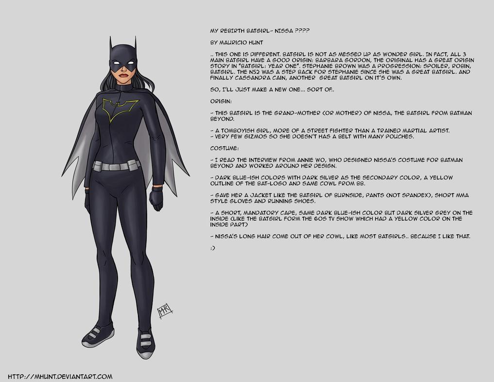 My REBIRTH version of Batgirl by mhunt
