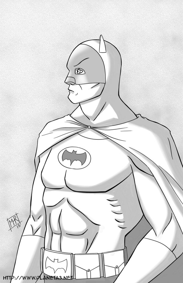 Batman 66 - Inktober 10 by mhunt
