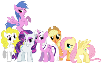 original mane 6 by yoshifarmir