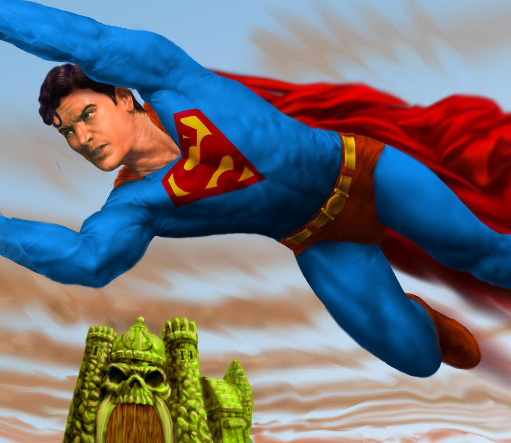 He-man vs Superman-Detail-Preview MOTU by AyotaArtwork on ...