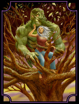 Swamp Thing and Abigail Arcane