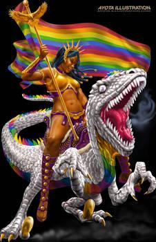 Pride Rainbow Raptor