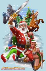 Santa the Barbarian by AyotaArtwork