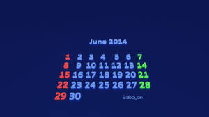 Sabayon linux calendar from Blender by Lukazoid