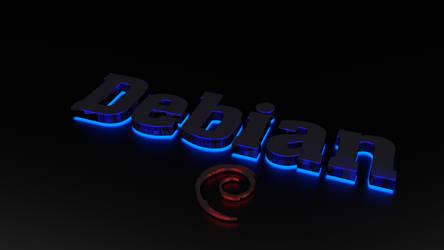 Debian Neon Linux Wallpaper