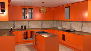 Kitchen Oranj by Lukazoid