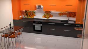 kit4en Black Oranj Modern by Lukazoid