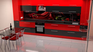 kit4en Black Red Modern by Lukazoid