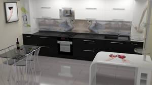 kitchen BW modern by Lukazoid