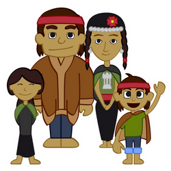Familia Mapuche by jparmstrong