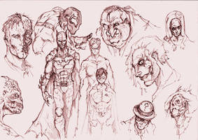 Batman and others by SaintYak